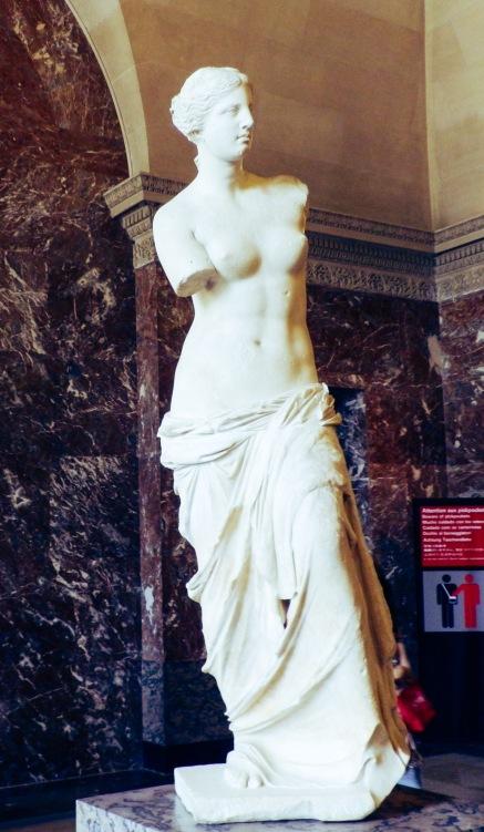 statue of Aphrodite in Louvre, Paris