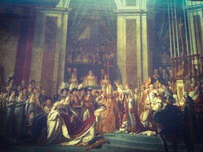 The coronation of emperor Napoleon - Louvre, Paris