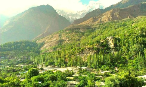 A small village in the Hunza Valley