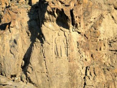 Ancient Buddha rock carving in Gilgit Pakistan