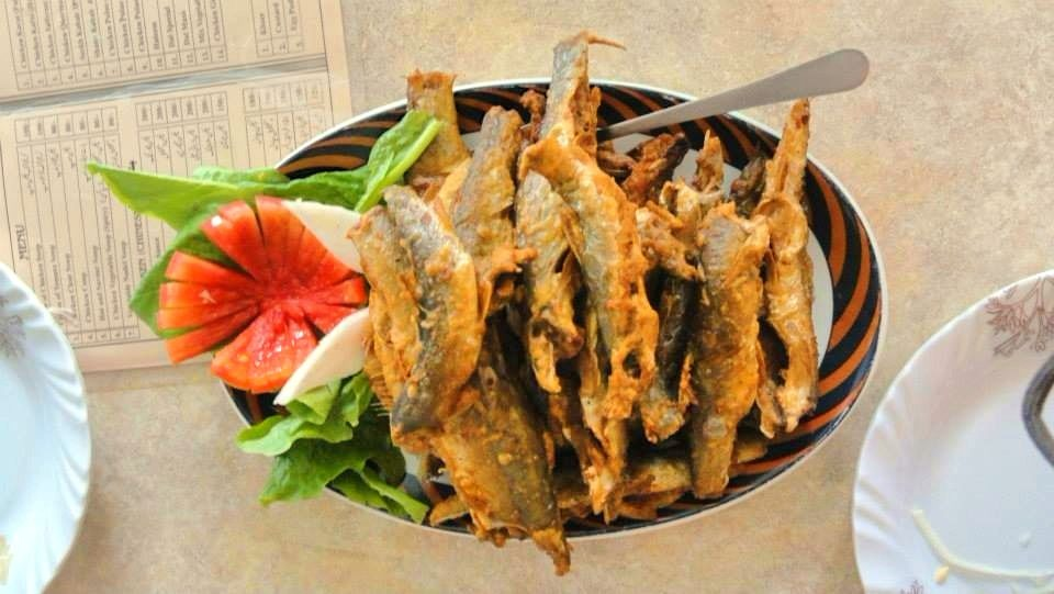 Fried in delicious local spices - freshly caught Indus river fish