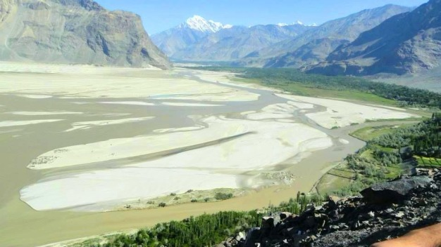 mountain, forest and plateau - Skardu