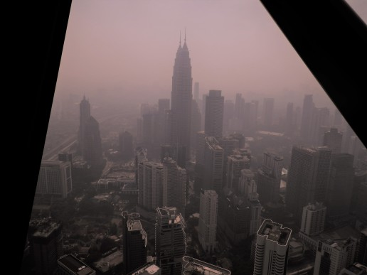 view from Kuala Lumper tower