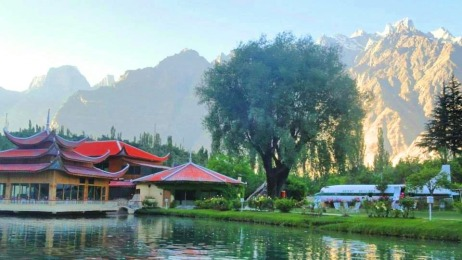 airplane refurbished into a restaurant - shangrilla resort Skardu - lower Kachura lake - Skardu Pakistan