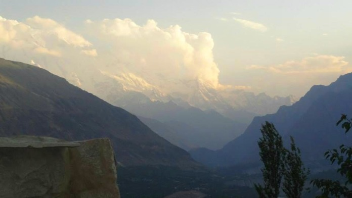 Mt. Ultar Sar - view from Baltit fort
