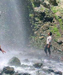 An artificial waterfall in Skardu